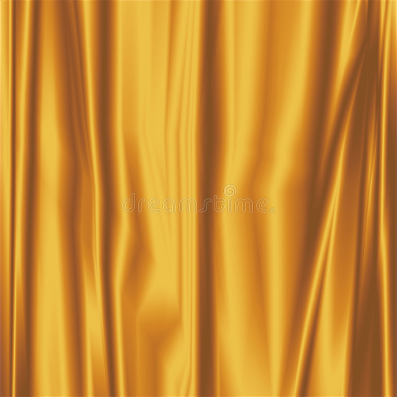 Free Gold Silky Fabric Royalty Free Stock Photo - 7677365