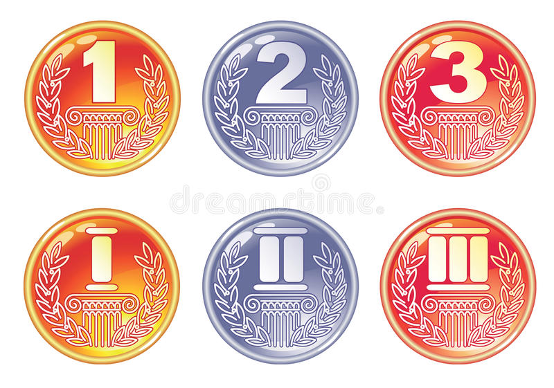 Download Gold, Silver And Bronze Medals. Stock Photography - Image: 22143322