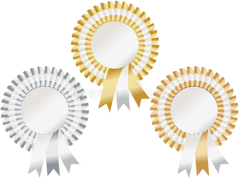 Download Gold, Silver, Bronze Rosettes Royalty Free Stock Photo - Image: 19495725