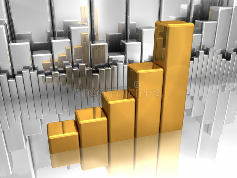 Gold And Silver Charts royalty free illustration