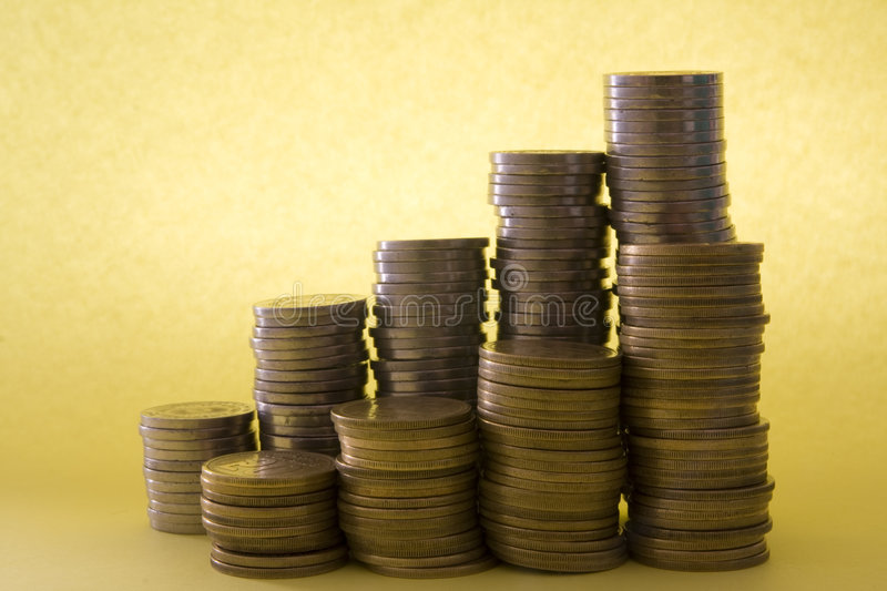 Download Gold and silver coins stock photo. Image of metal, finance - 4715288