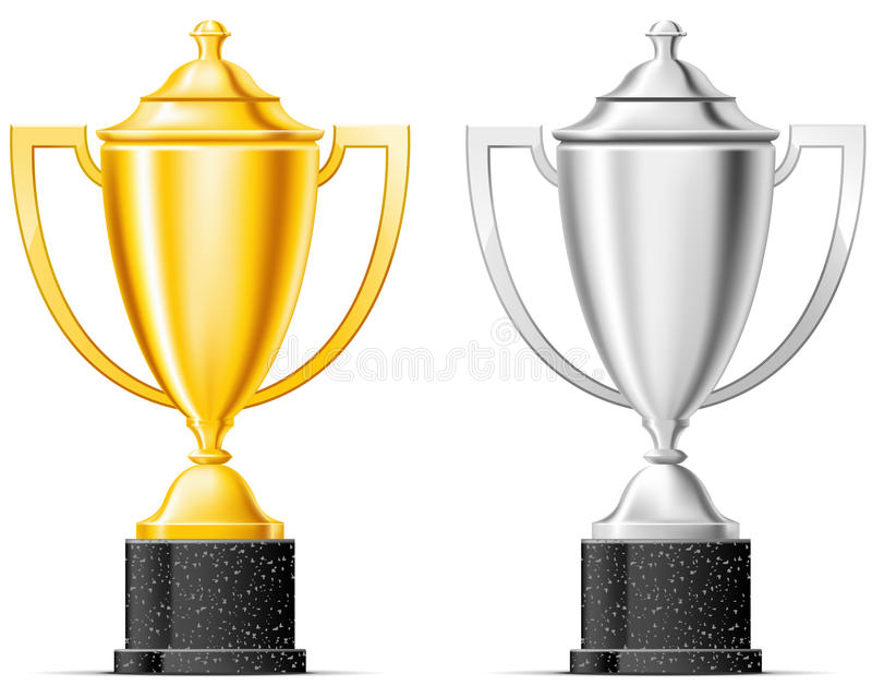 Download Gold and silver cup stock vector. Illustration of gold - 23045610