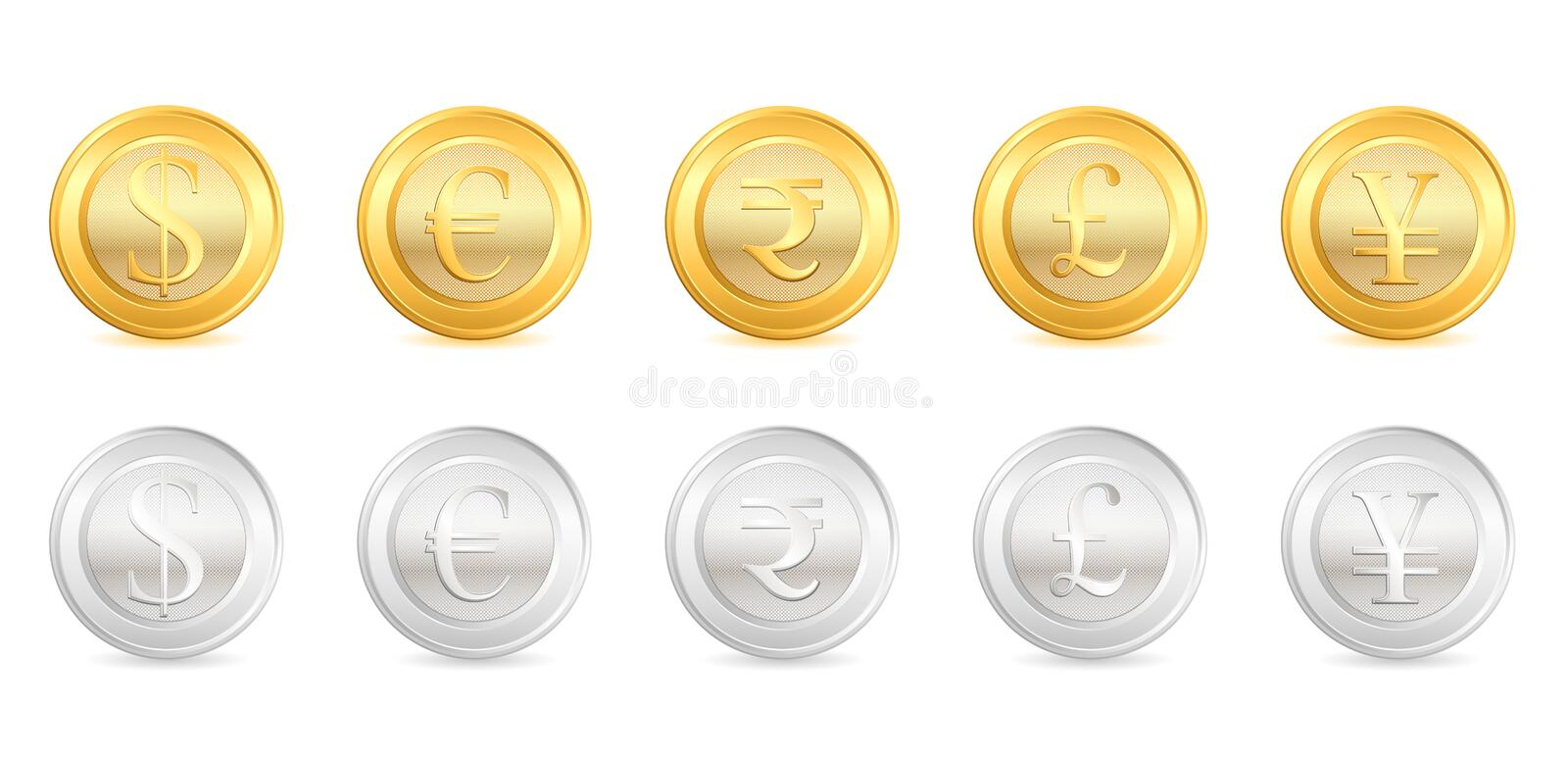 Download Gold and Silver Currency stock illustration. Image of concept - 19047981