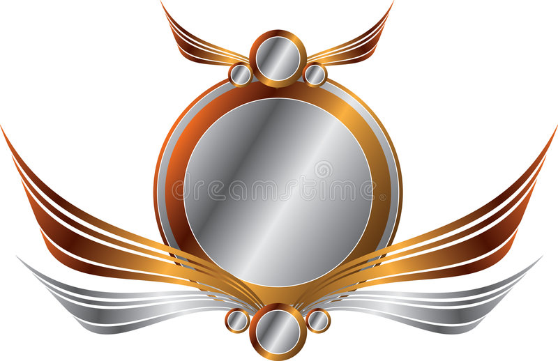 Gold and Silver Frame royalty free illustration