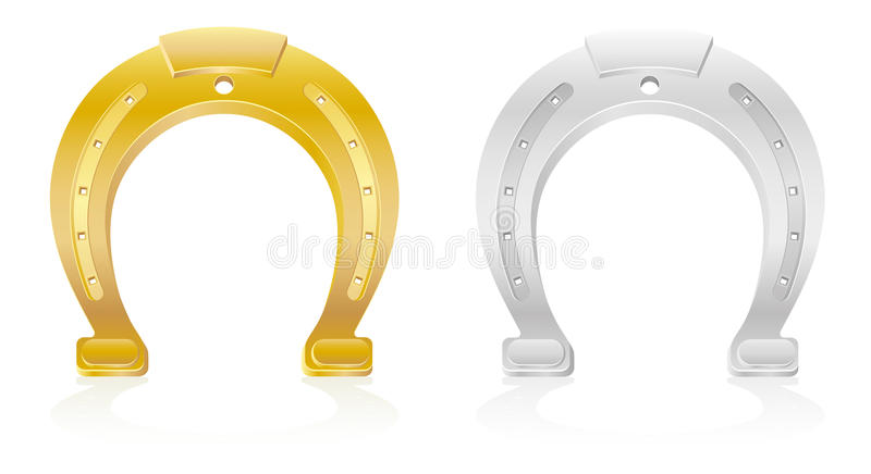 Download Gold And Silver Horseshoe Talisman Charm Stock Vector - Illustration: 27551109