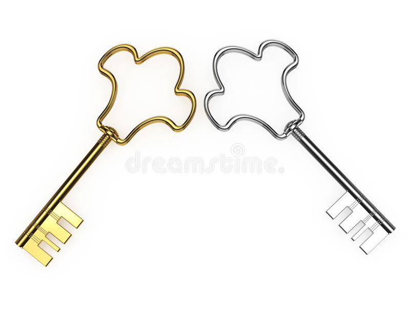 Download Gold and silver keys stock illustration. Illustration of metallic - 28048921