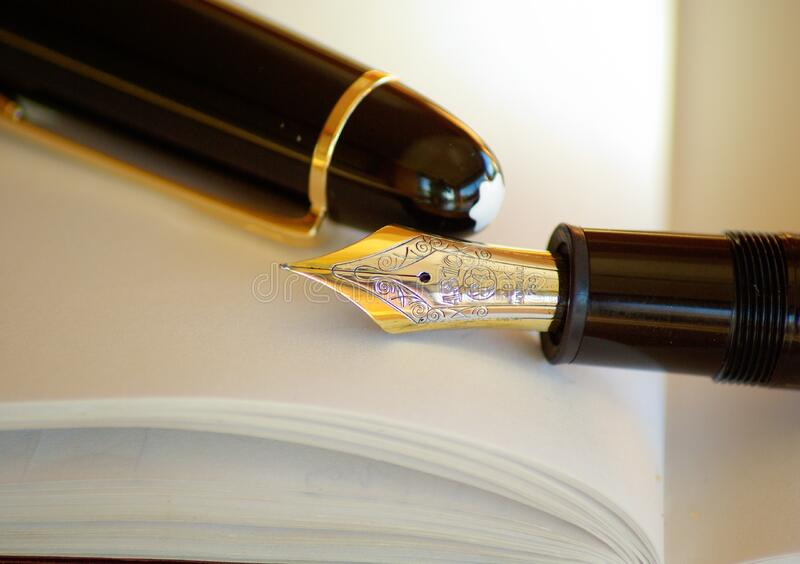 Gold And Silver Nib Black Holder Pen Free Public Domain Cc0 Image
