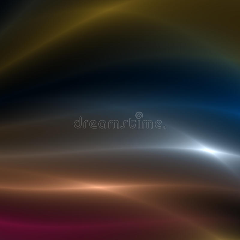 Silver, Gold and Red streaks of light. Gold, Silver and Red flowing light streaks background stock illustration