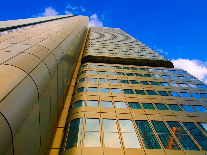 Download Gold Sky-scraper And Blue Sky Stock Image - Image: 7170949