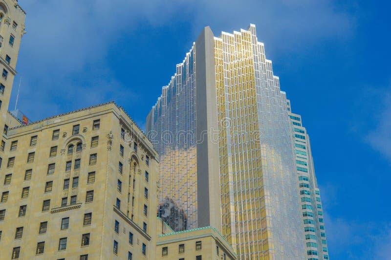Gold skyscraper Toronto downtown stock photos