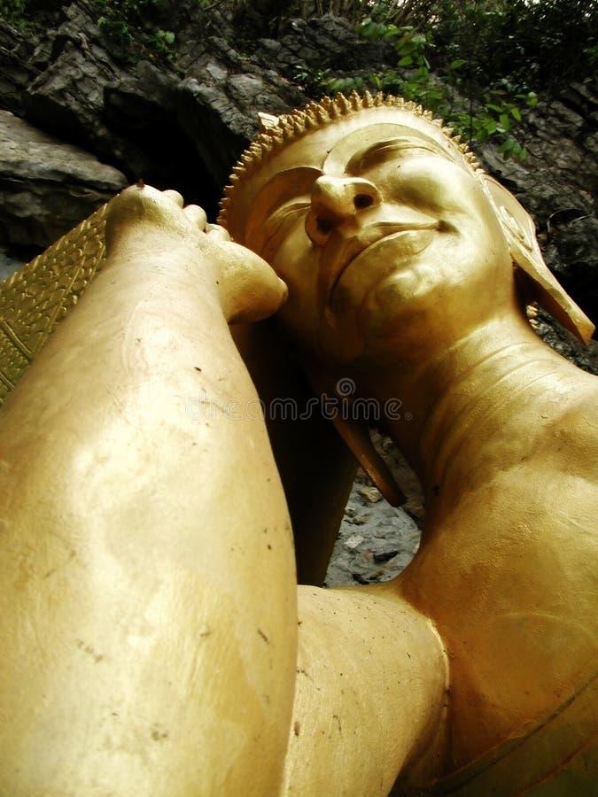 Download Gold Sleeping Buddha stock image. Image of golden, resting - 1013