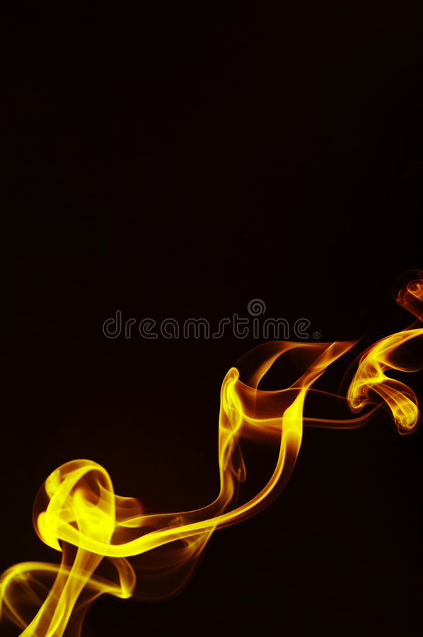 Gold smoke stock image