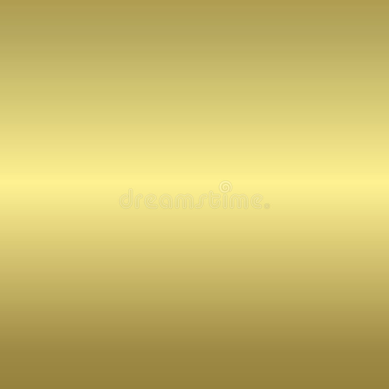 Gold smooth metal background royalty free illustration