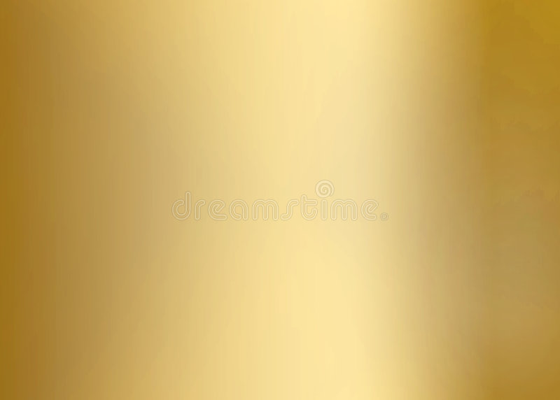 Gold Smooth Metal Plate royalty free illustration