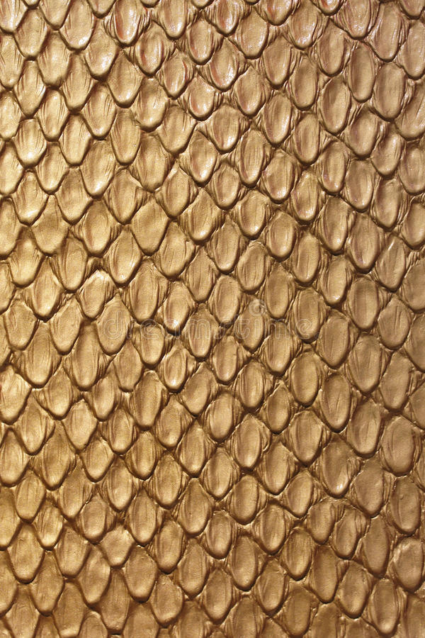 Gold Snake Leather. Gold Snake Skin Fashion Leather Texture royalty free stock images