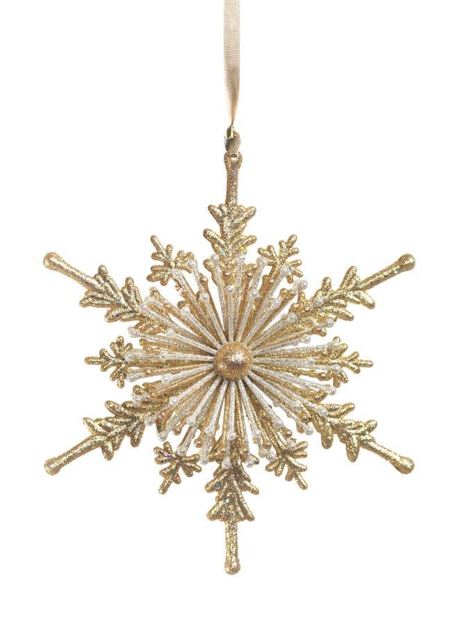 Free Gold Snowlfake Christmas Ornament Royalty Free Stock Photo - 12018255