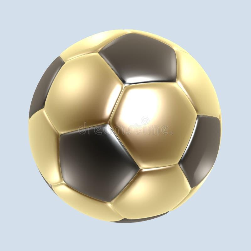 Gold soccer ball royalty free stock photos