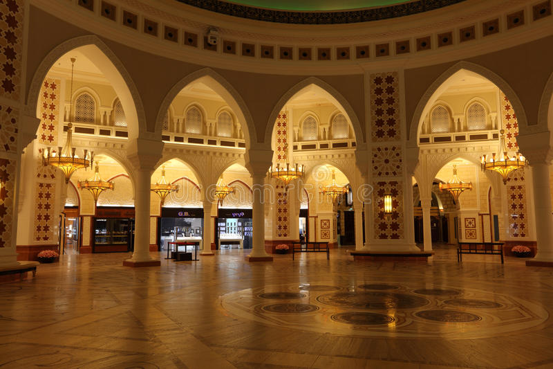 Gold Souk inside of Dubai Mall stock photography