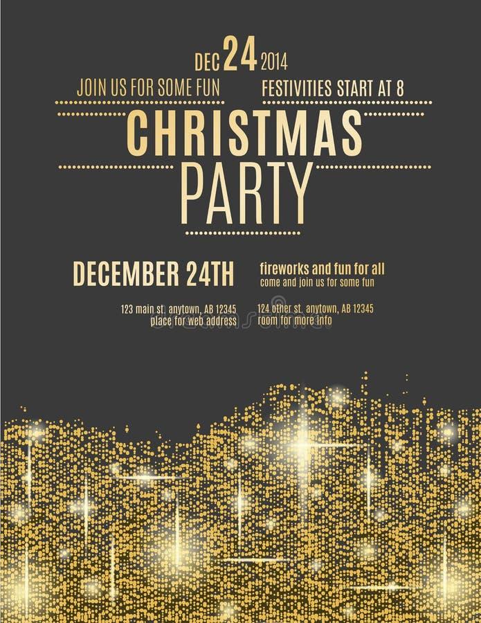 Gold sparkle christmas party flyer template stock vector download gold sparkle christmas party flyer template stock vector illustration of shiny greeting toneelgroepblik Choice Image