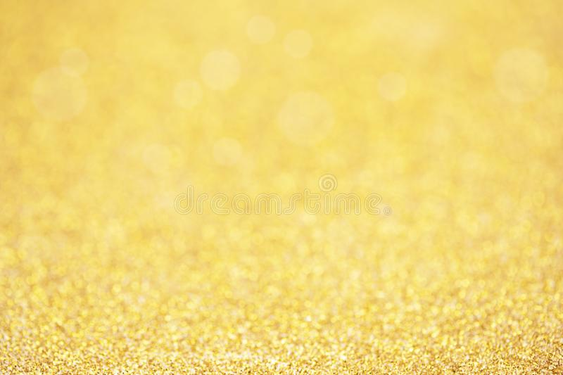 Gold sparkle glitter for Christmas background.  stock photo