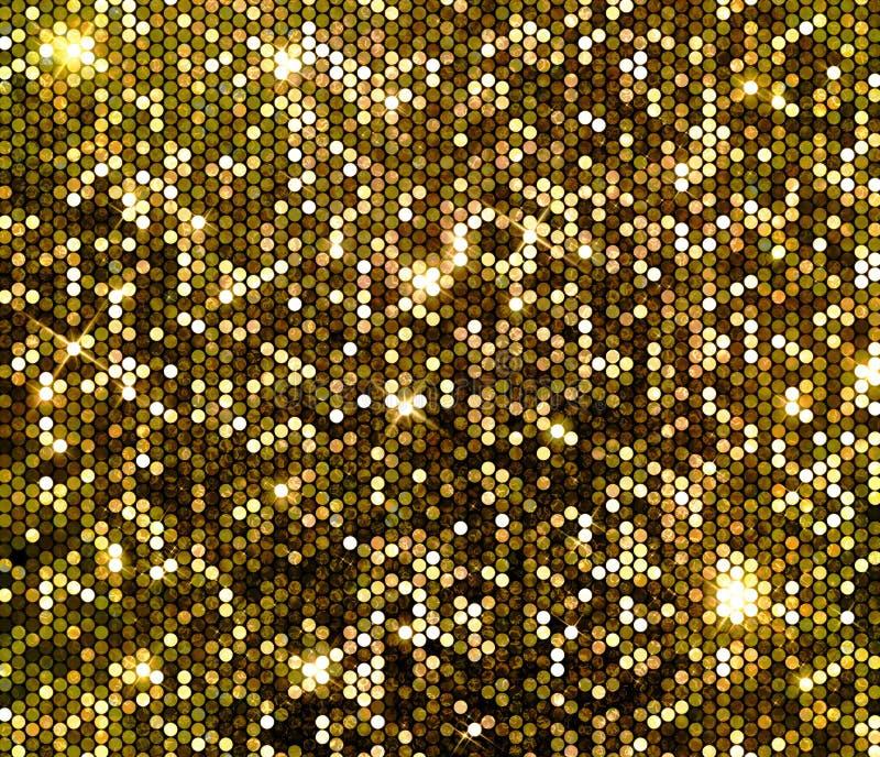 Gold sparkle glitter sequins background vector illustration