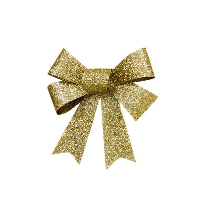 Free Gold Sparkling Christmas Bow Royalty Free Stock Photos - 35938398