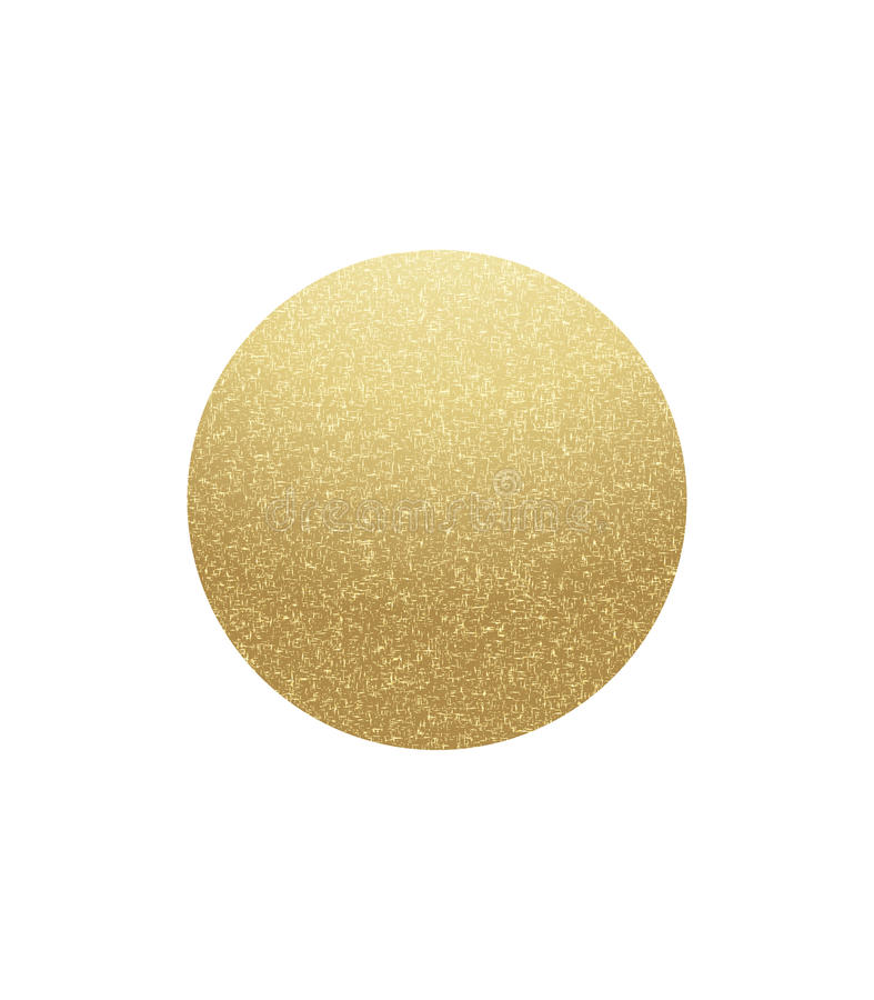 Gold speckled circle royalty free illustration