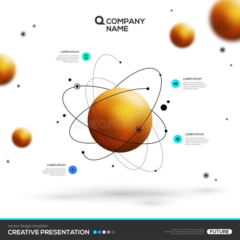 Gold sphere particles and atomic structure stock vector download gold sphere particles and atomic structure stock vector illustration of model bright ccuart Gallery