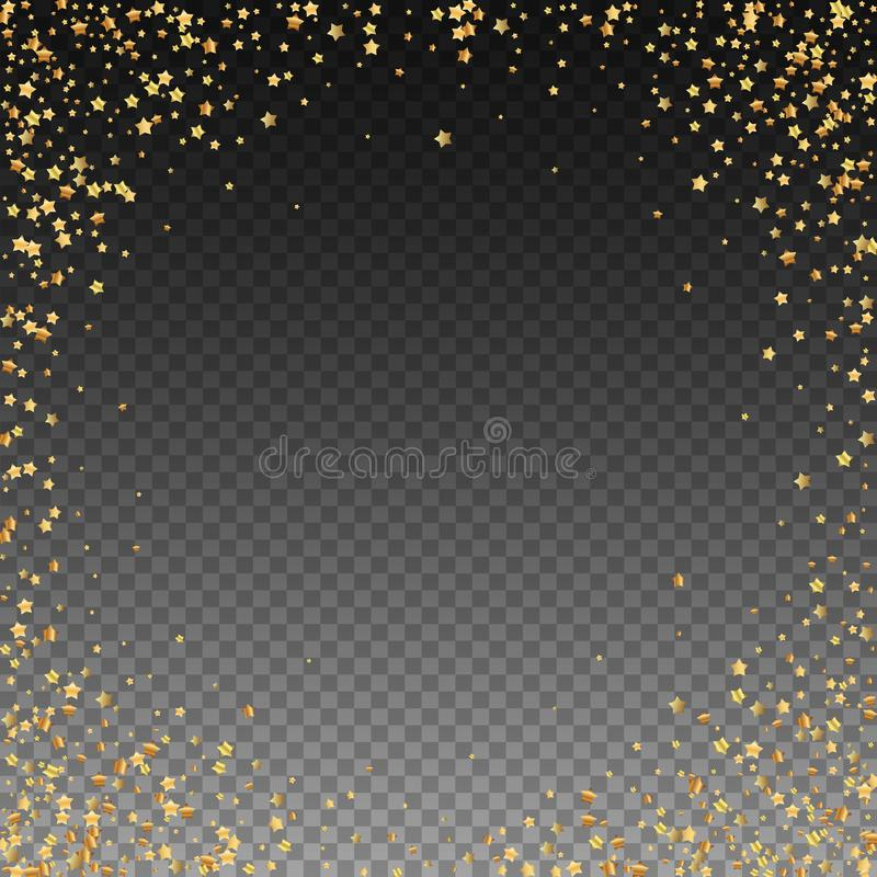 Gold spielt funkelnde Konfettis des Luxus die Hauptrolle Zerstreute Inspektion lizenzfreie abbildung