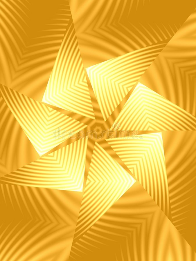 Gold Spinning Triangle Pattern stock illustration
