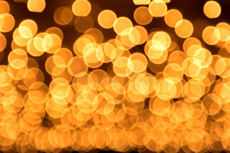 Gold spots bokeh stock images