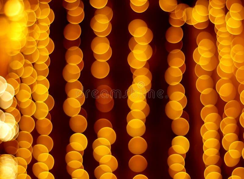 Gold spots bokeh royalty free stock photography