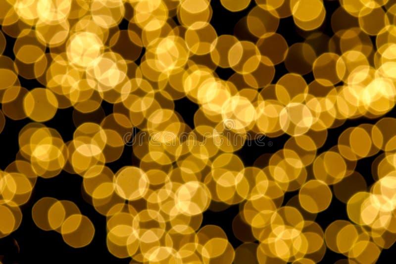Gold Spots Bokeh Background Royalty Free Stock Photos