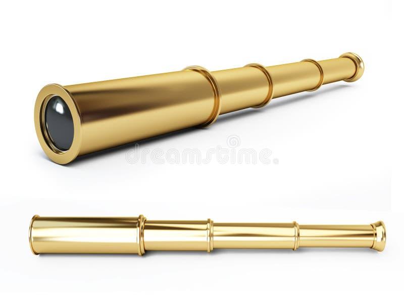 Gold spyglass