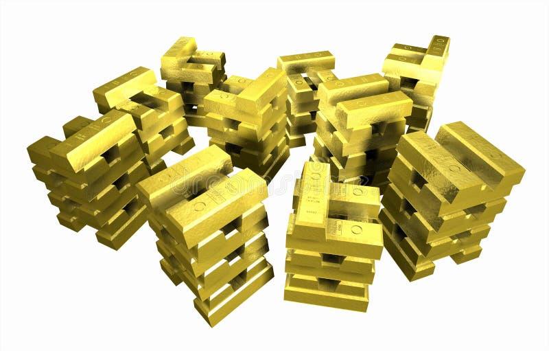 Gold_stack_5A στοκ εικόνα