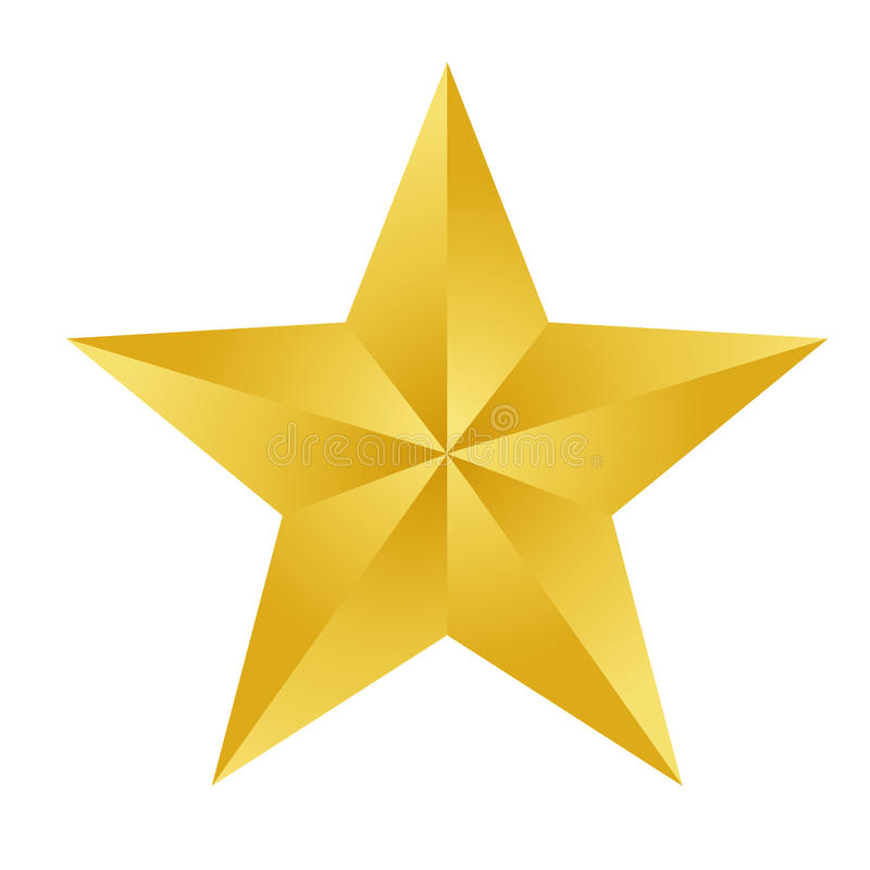 Gold star royalty free illustration