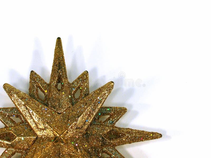 Gold star. Christmas tree ornament stock photos
