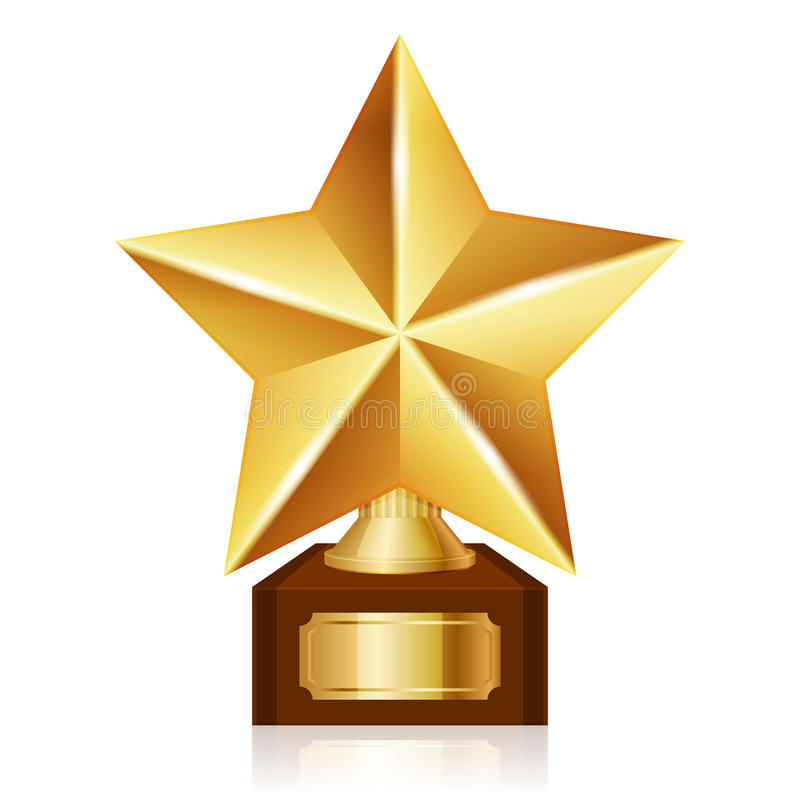 Gold star award. Vector illustration of gold star award stock illustration