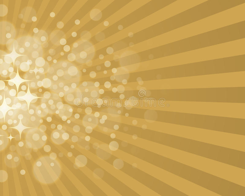 Gold Star Background royalty free illustration
