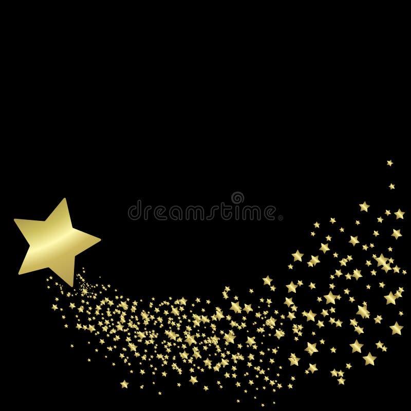 Gold star. Background vector element royalty free illustration