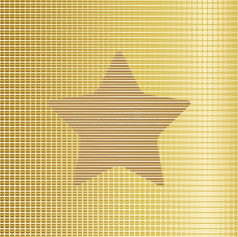Gold star background. Vector. Gold star background. This is file of EPS10 format vector illustration