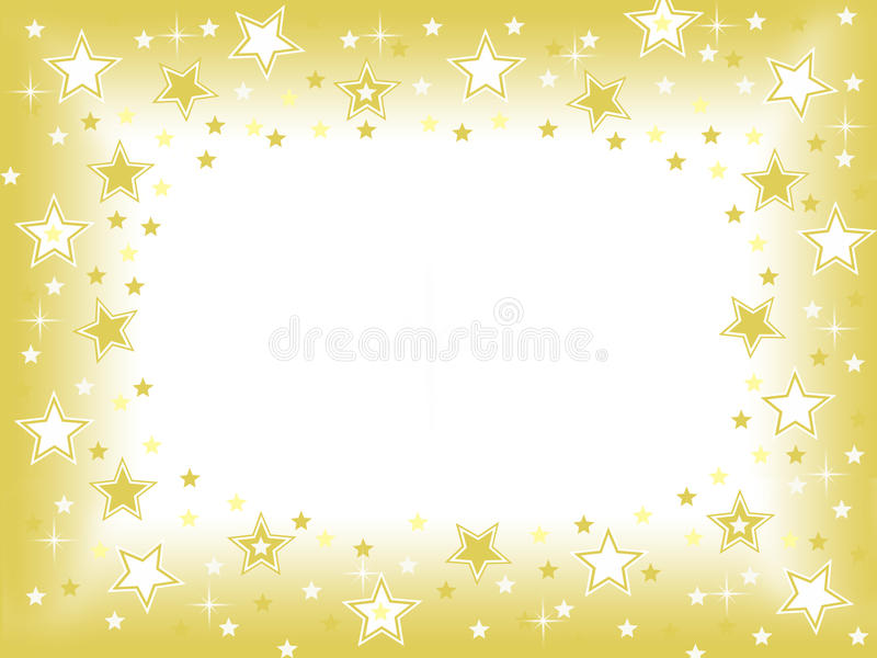 Gold star with blank space celebration background stock