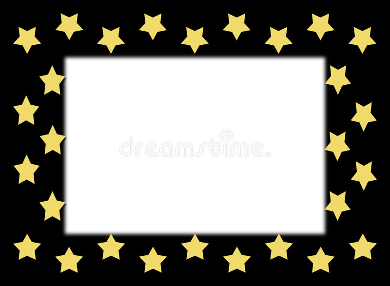 Download Gold Star Border stock illustration. Image of colorful - 5560141