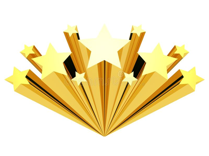 Gold star clip art isolated on a white vector illustration