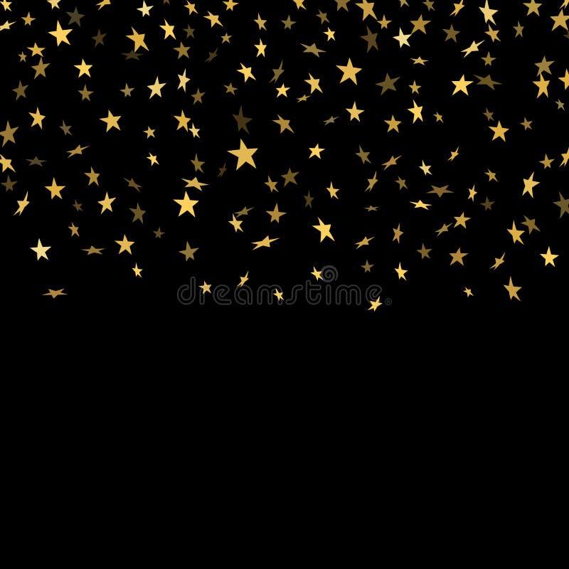 Gold star confetti background stock illustration