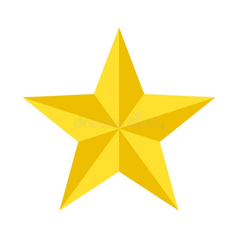 Gold-Star elegant in Cartoon-Stil für Design isoliert auf weißem Hintergrund; Vektorgrafik vektor abbildung