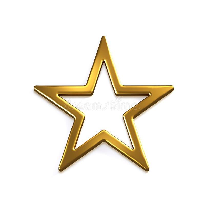 Gold Star Icon. 3D Gold Render Illustration Stock ... - photo #1