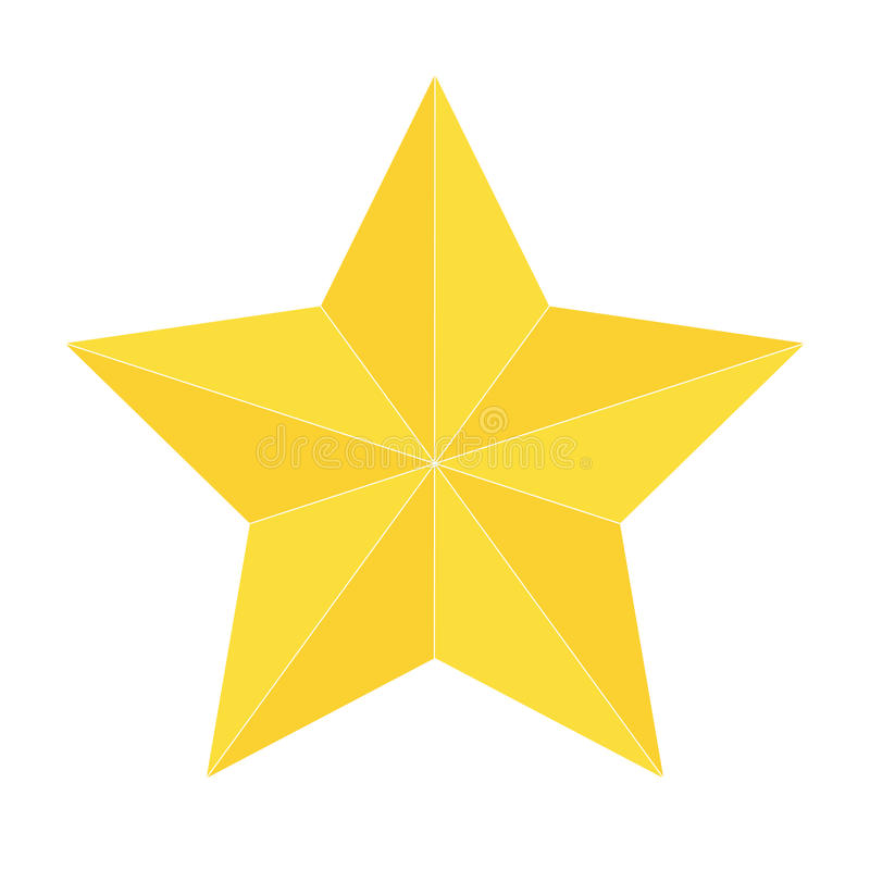 Gold star icon isolated stock photo