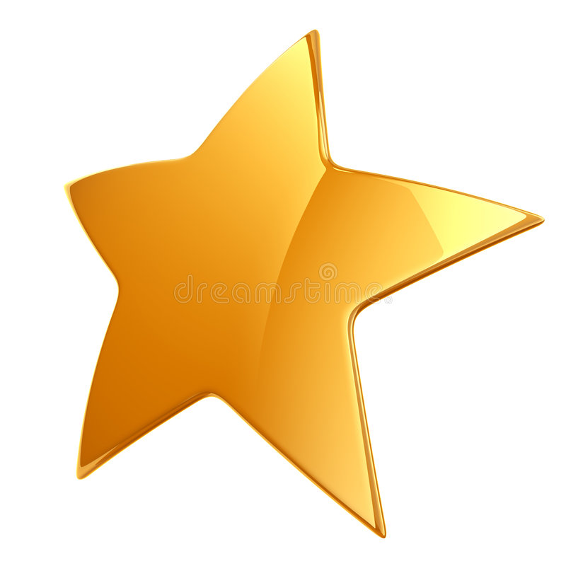Gold star isolated stock illustration