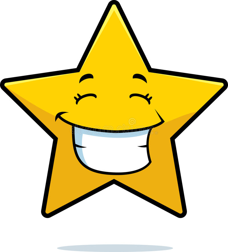 Download Gold Star Smiling stock vector. Image of grin, happy - 11792491